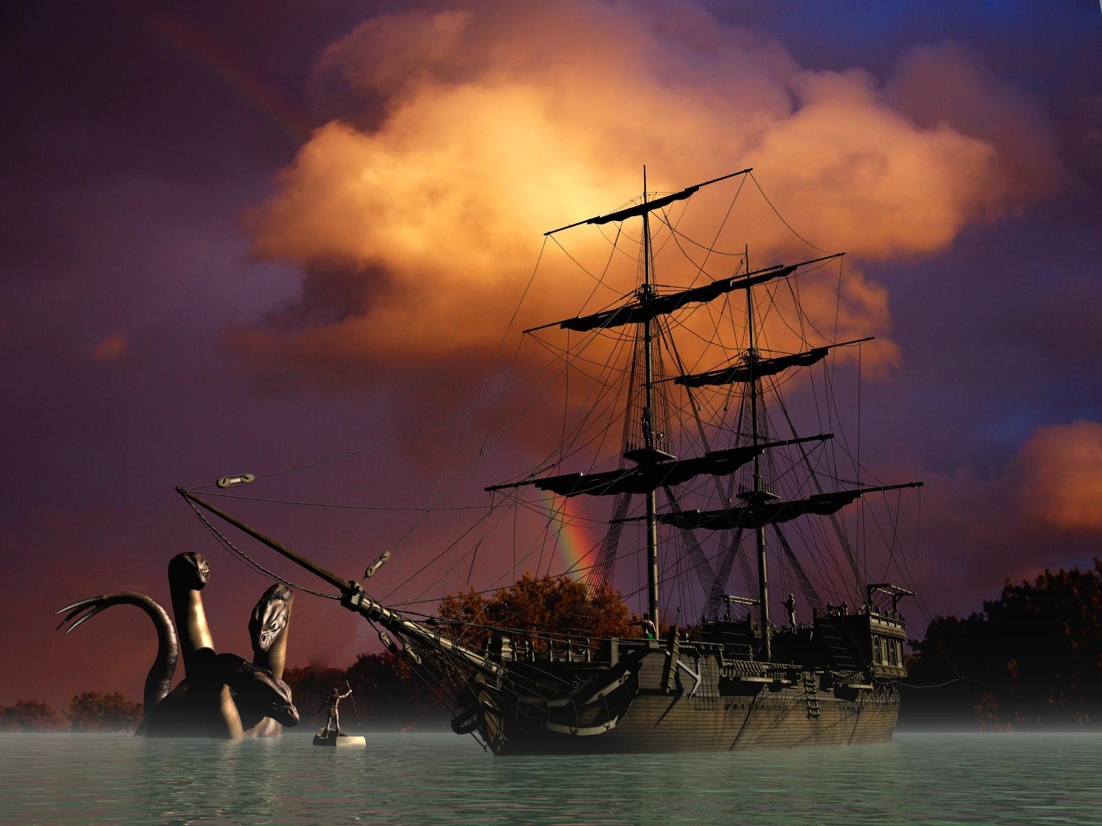 Пиратский корабль в бухте привидений