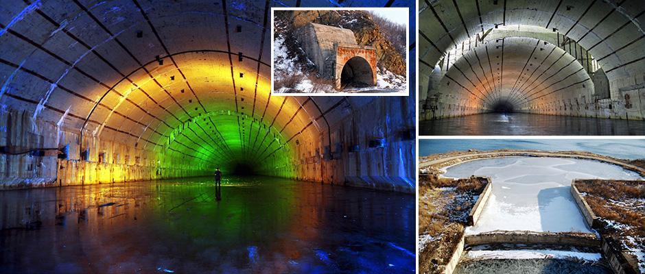 Подземный бункер - секретная база подводных лодок.